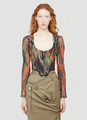 Vivienne Westwood Portrait Corset Top in Orange
