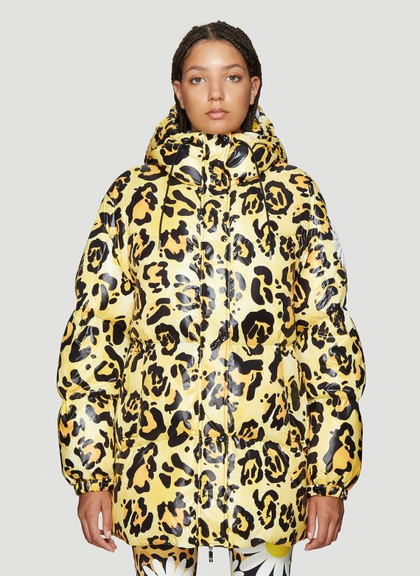 0 Moncler Richard Quinn Mary Down Jacket in Yellow