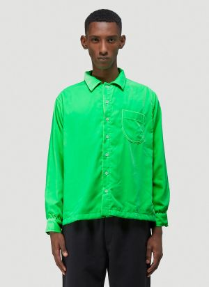 ERL Velvet Shirt in Green
