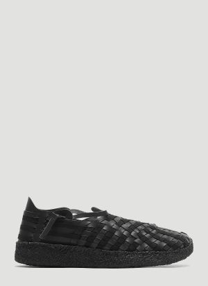 Malibu Sandals Woven Latigo Sneakers in Black