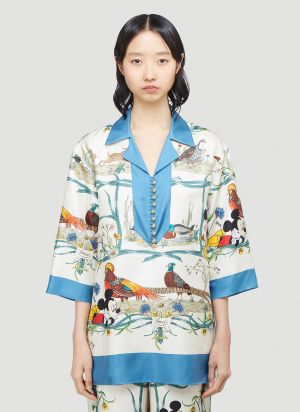Gucci X Disney Floral Shirt in White