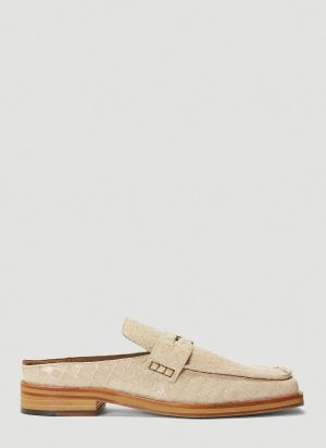 Martine Rose Arches Embossed Loafers in White