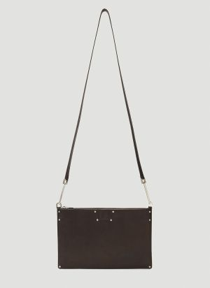 Rick Owens Large Rectangle Crossbody Bag in Brown