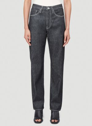 Acne Studios Face Straight-Leg Jeans in Black