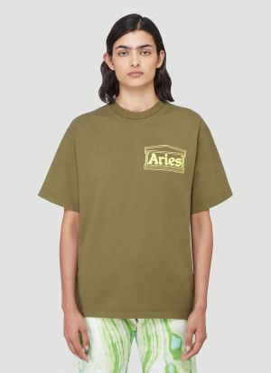 Aries Temple T-Shirt in Green