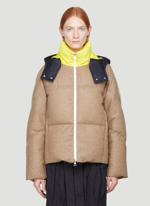 1 Moncler JW Anderson Stonory Down Jacket in Brown