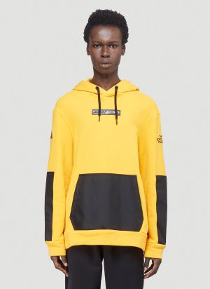 The North Face Black Series Contrast-Panel Hooded Sweatshirt in Yellow