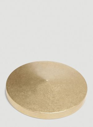 Ystudio Classic Round Paperweight in Gold