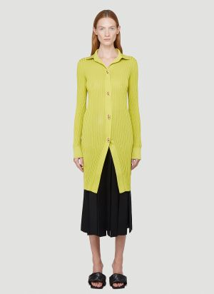 Bottega Veneta Long Knit Cardigan in Yellow