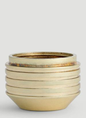Tom Dixon Small Cog Container in Gold