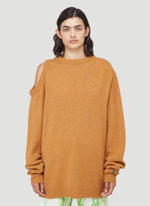 Aries Cut-Out Sweater in Orange