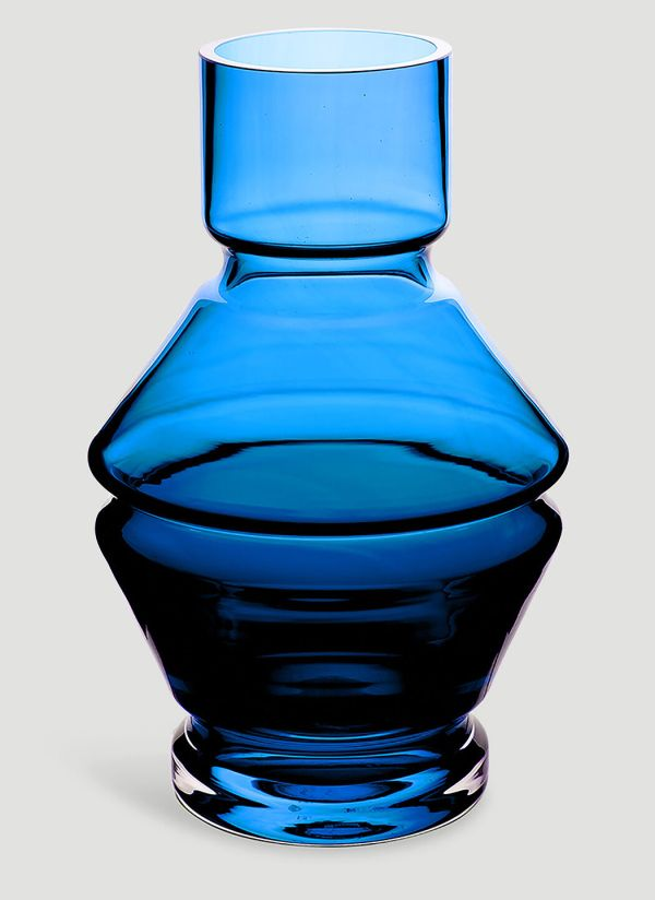 Raawii Relae Angular Large Vase in Blue
