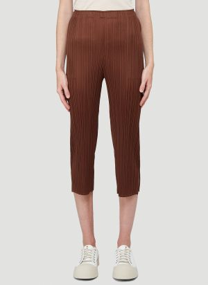 Pleats Please Issey Miyake Monthly Colours Pants in Brown