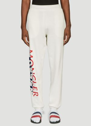 2 Moncler 1952 X Awake NY Logo Sweatpants in White