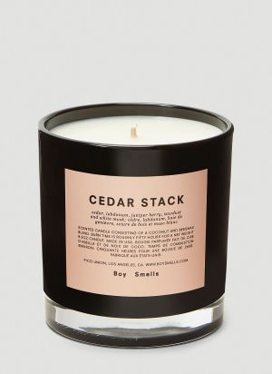 Boy Smells Cedar Stack Candle in Black