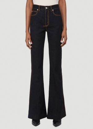 Alexander McQueen Flared Jeans in Black