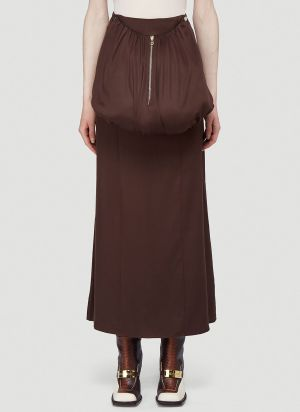 Section 8 Detachable-Pouch Skirt in Brown