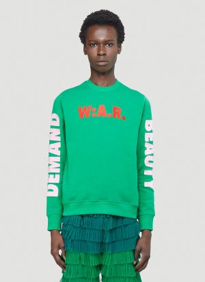 Walter Van Beirendonck Demand Beauty Sweatshirt in Green
