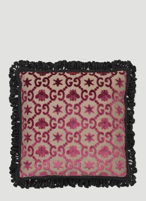 Gucci GG Square Jacquard Cushion in Pink