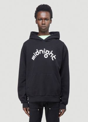 Midnight Studios X Aphex M-Flow Hooded Sweatshirt in Black
