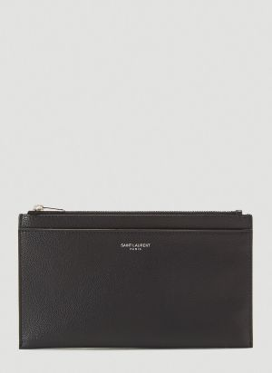 Saint Laurent Zipped Pouch in Black