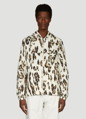 2 Moncler 1952 Printed Parka Jacket in White
