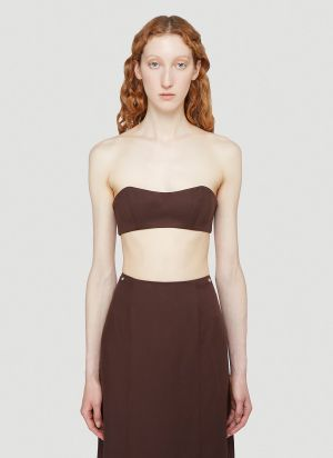 Section 8 Cropped Top in Brown