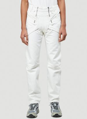 GmbH Harness Jeans in White