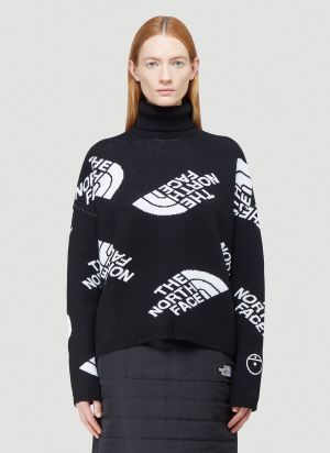 The North Face Black Series Logo Turtleneck Sweater in Black