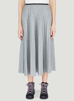 Moncler Pleated Skirt in Grey