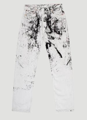 APJP Vintage Hand-Painted Jeans in White