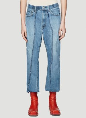 Bonum Exposed Seam Jeans in Blue