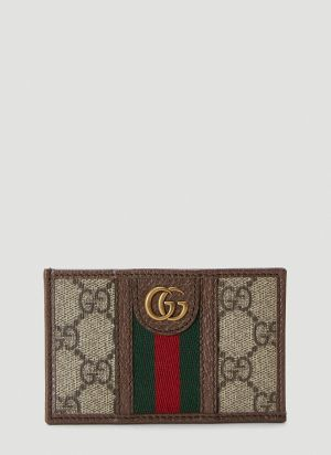 Gucci Ophidia Card Holder in Beige