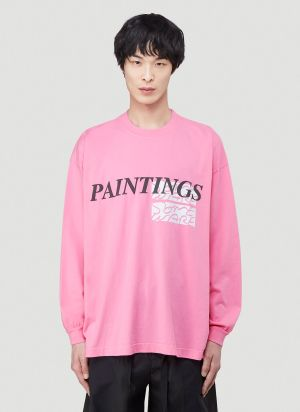 Someware Paintings Long Sleeve T-Shirt in Pink