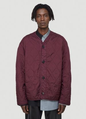 OAMC Combat Quilted Jacket in Red