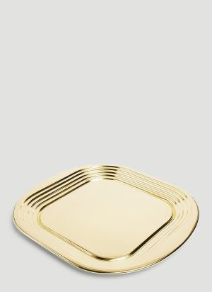 Tom Dixon Form Square Tray in Gold
