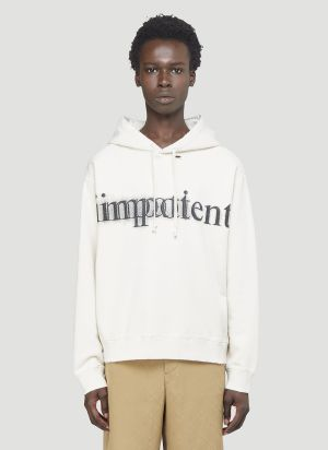 Gucci Impotent Important Hooded Sweatshirt in White