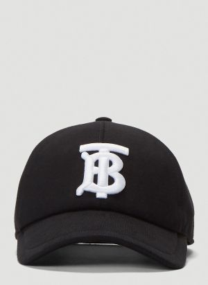 Burberry TB Monogram Baseball Cap in Black