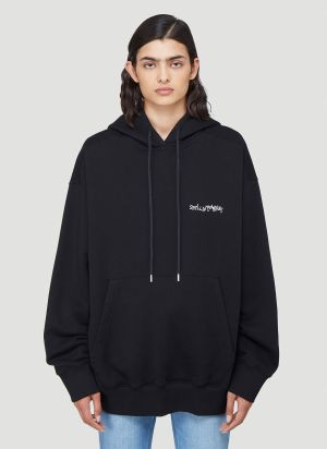 Stella McCartney Logo-Print Hooded Sweatshirt in Black