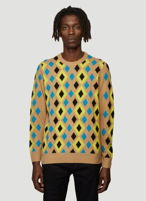 Pringle of Scotland Abstract Sweater in Brown