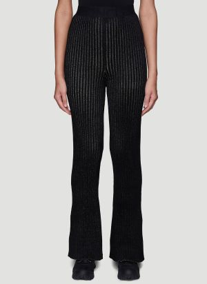 2 Moncler 1952 Ribbed Knit Pants in Black