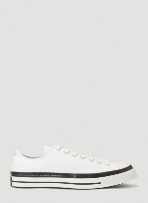 7 Moncler Fragment Fraylor Low-Top Sneakers in White