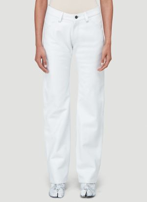Mowalola Leather Suit Pants in White