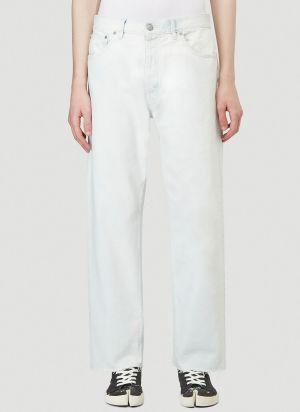Maison Margiela Wide-Leg Bleached Jeans in Denim