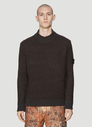 Stone Island Knit Jumper in Brown