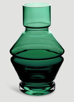 Raawii Relae Angular Small Vase in Green