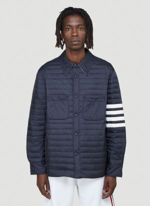 Thom Browne Quilted Jacket in Blue