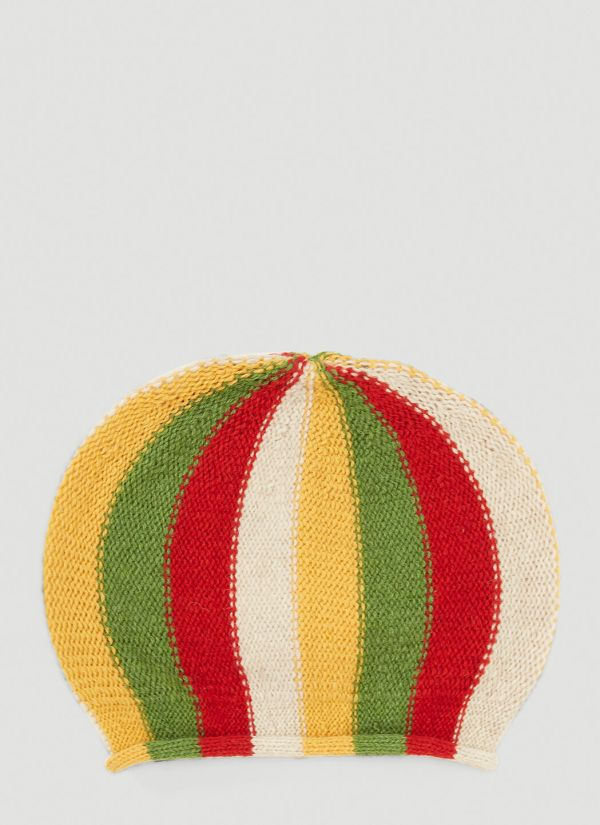 Wales Bonner Lovers Rock Knitted Beanie Hat in Yellow