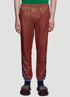 Gucci Striped Jogging Pants in Red