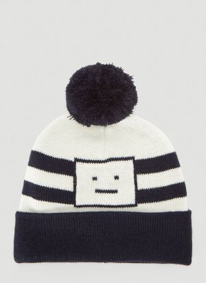Acne Studios Pompom Beanie Hat in Blue
